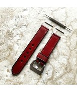 Red Color Leather Band Strap for Garmin Vivomove 3, HR, Luxe and Style -V20 - $39.99+
