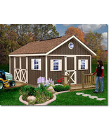 Best Barns Fairview 12x12 Wood Storage Shed Kit - ALL Pre-Cut - $2,750.37