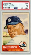 1953 Topps Mickey Mantle #82 PSA 5 P6666A - $5,169.34