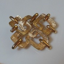 Vintage Signed Coro Gold-tone Abstract Brooch  - $22.28