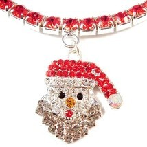 Anklet Santa Claus Red Crystal Charm Dangle Stretch 9 Inch Christmas Style #2 - $21.99