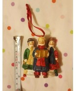 Vintage Ceramic Christmas Carolers Trio Pre-owned Taiwan XMAS Ornament 3... - $14.85