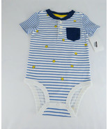 Infant Boys Bodysuit OshKosh B'Gosh Baby Boys' Pocket Henley Bodysuit 9M Multi - $8.90