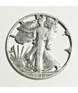1946 Walking Liberty Silver Half Dollar Coin Cut Out Pendant Handcrafted... - $38.61