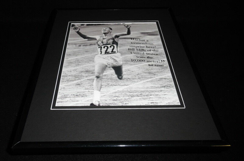 Primary image for Billy Mills 10,000 Meters Framed 11x14 Photo Display