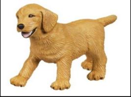 GOLDEN RETRIEVER DOG FIGURINE PUPPY PET  SAFARI LTD TOY NEW - $3.55