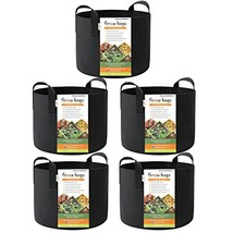 HONEST OUTFITTERS 5-Pack 15 Gallon Smart Grow Bags/Plant Container/Aerat... - $30.57 CAD