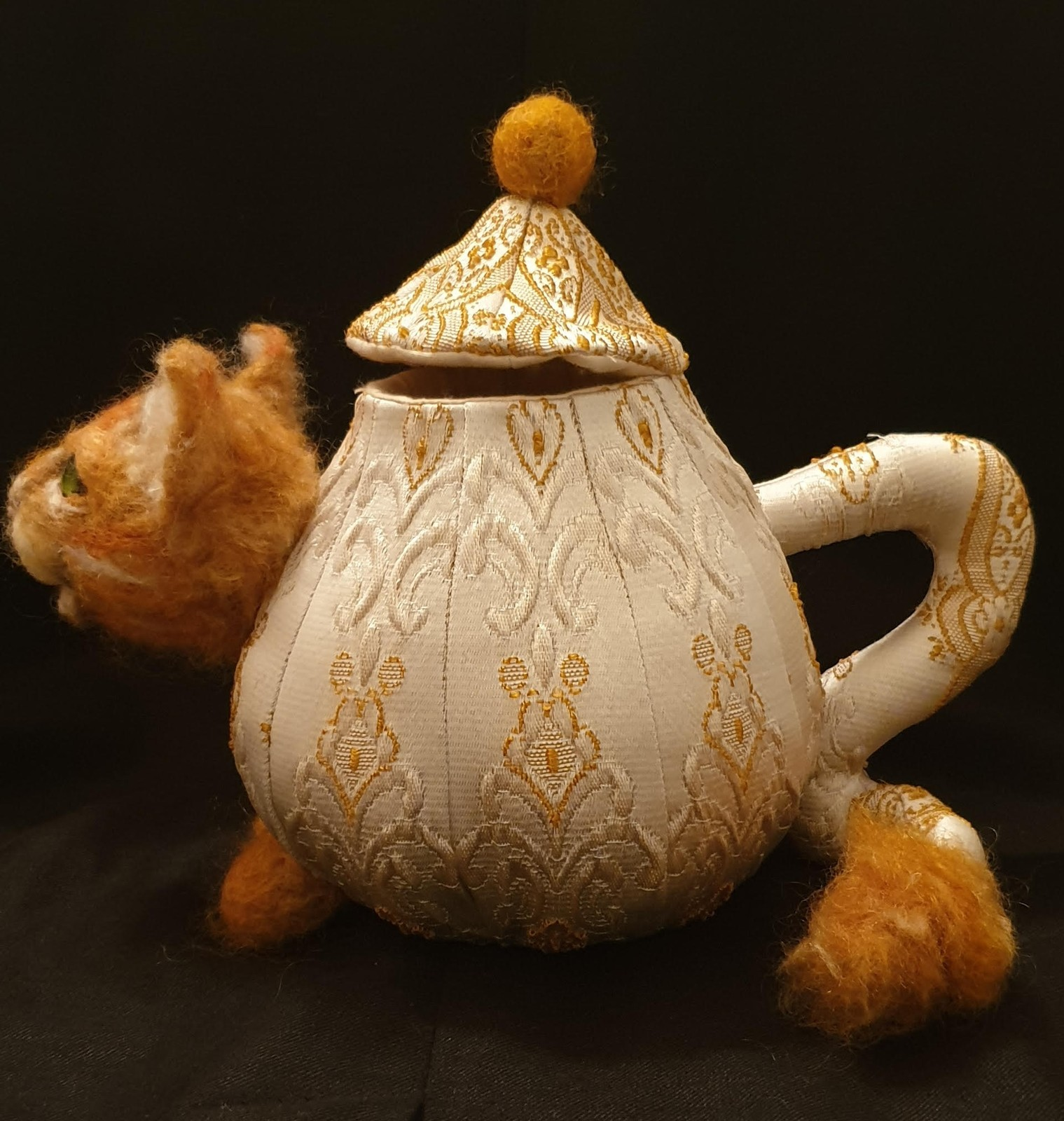 """""""The Cheshire Cat Teapot"""" PDF Digital E-Pattern Download By Suzette Rugolo"""