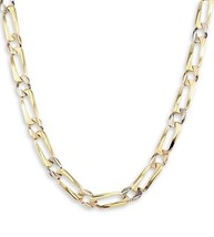 Tri Color Figaro - Anchor 4mm 18kts Gold Plated Chain - £24.14 GBP+