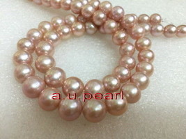 "AAAAA long 36""12-14MM REAL south sea lavender pink purples pearl necklac... - $2,206.00"