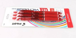 3ct Pilot Acroball Colors Advanced Red Ink Ballpoint Pens Medium Point 1.0mm image 2