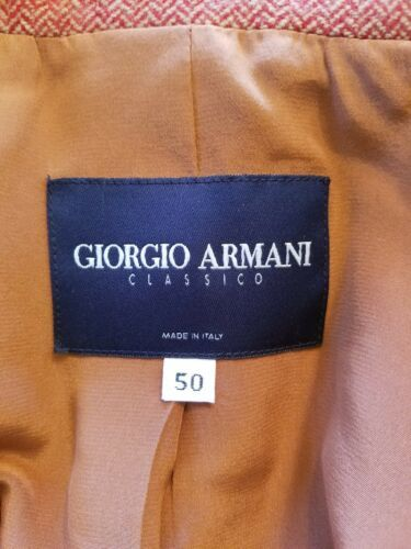 Giorgio Armani Borgo 21 Femme 50 Blazer Laine Mélange Cachemire Hloundstooth