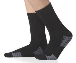 ADIDAS Team Speed System Mid Crew Socks X-Large (12-16) Black Medium Cus... - $15.99