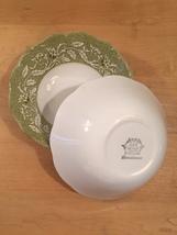 """Set of 2 vintage 60s J & G Meakin Renaissance (green) pattern  6 1/4"""" bowls image 6"""