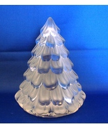MIKASA FROSTED GLASS CHRISTMAS TREE VOTIVE CANDLE HOLDER WHITE - $31.00