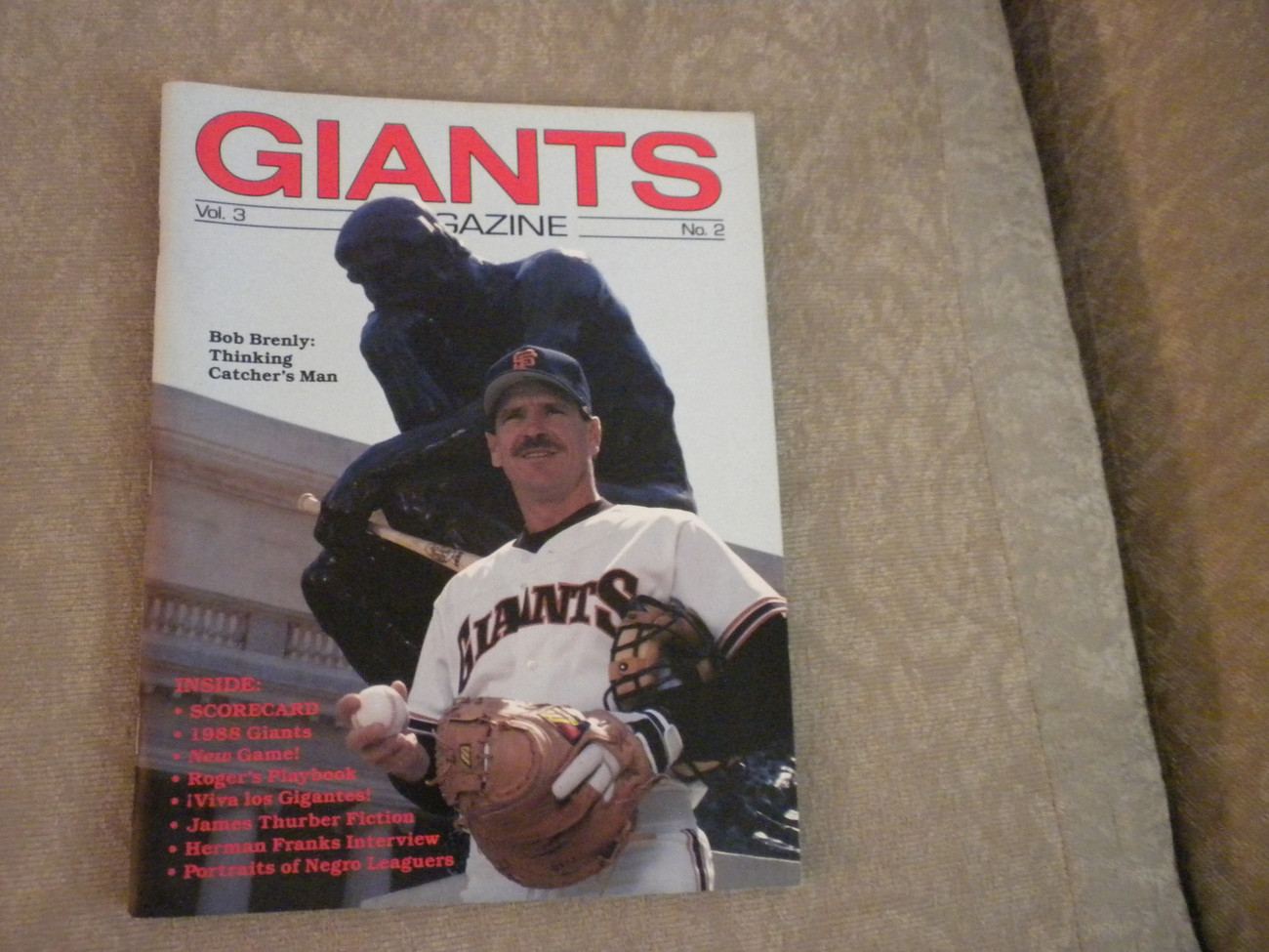 Primary image for 1988 San Francisco Giants Magazine: Bob Brenly; Bay Area Hall of Fame; Sched VG+