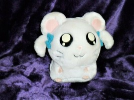 "HASBRO Bijou Ham-Ham plush toy white blue bows pink ears 2002 Epoch Co. 6"" - $19.79"