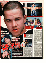 Marky Mark Wahlberg teen magazine pinup clipping shirtless arms spread out