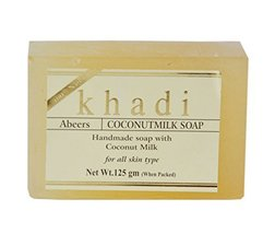 KHADI ABEERS PURE ESSENCE COCONUT MILK SOAP WITH ESSENTIAL OILS - $9.79