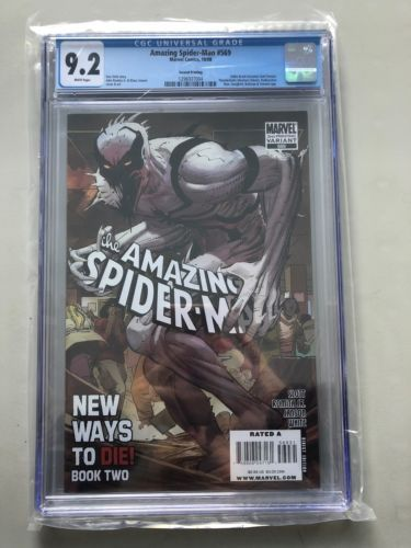 Amazing Spider-Man #569 2nd Print Variant Anti-Venom CGC 9.2 NM- Near Mint-