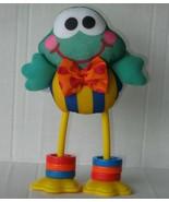 Vtg Fisher Price Click-Clack Froggie Frog Baby Toy Plush Developmental L... - $31.49