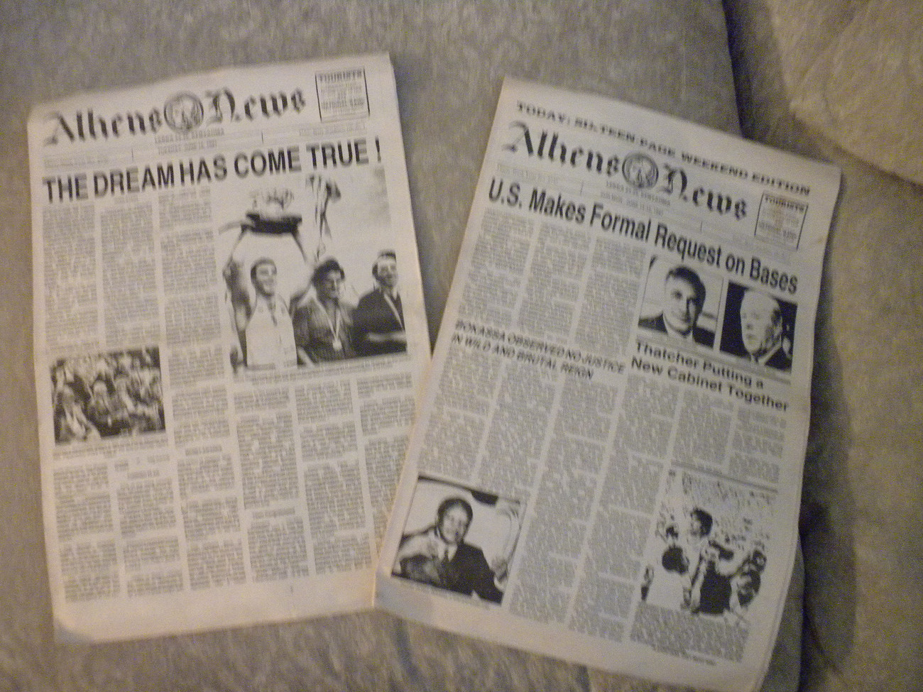 Primary image for 2 issues fr June 1987 orig Athens News w Greece European Basketball Champions