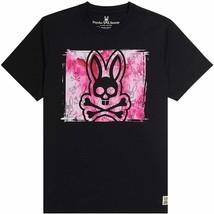 Men's Psycho Bunny Short Sleeve Tee Logo Graphic Shirt Haley Black T-Shirt