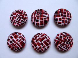 Fabric Buttons - Designer Print Set Of 50  - $20.00