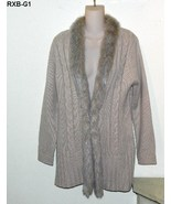 RXB Womens Beige Size Large Knit Cardigan  NWT - $16.99