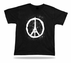 11/13/2015 Peace Sign stand with Paris and France tee shirt art statement war - $7.57