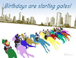 Starting Gate: Unique Birthday Card - $5.00