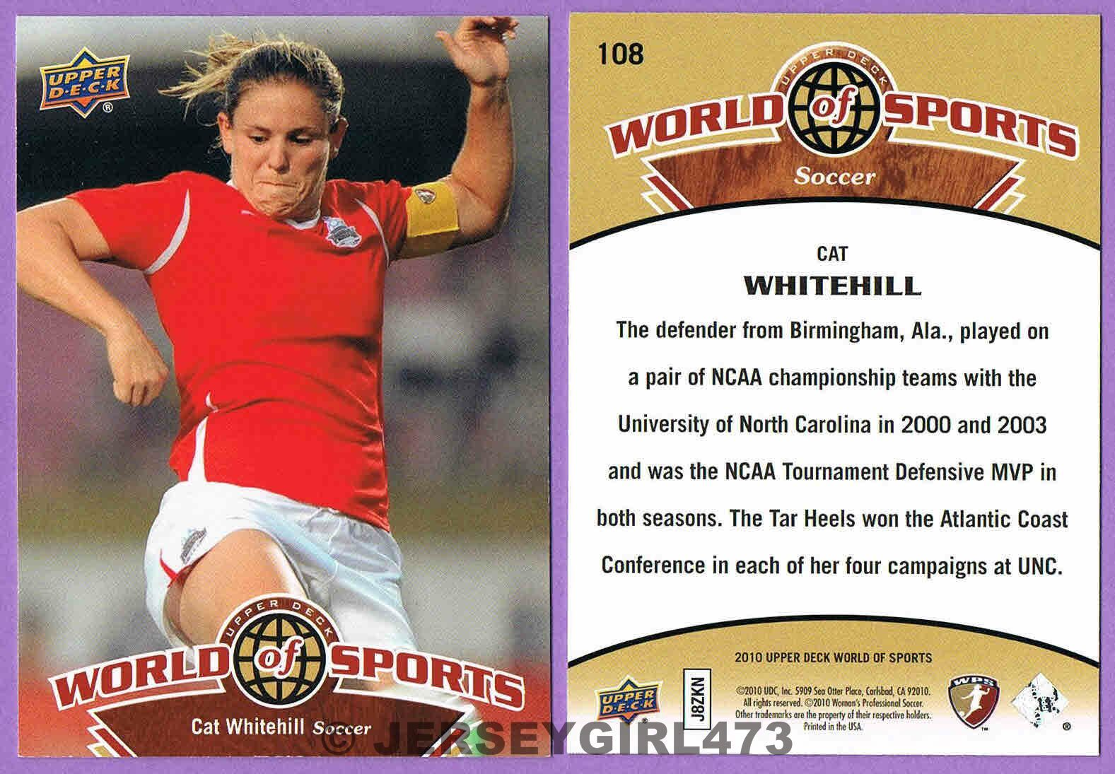 Cat Whitehill 2010 Upper Deck World of Sports Soccer Card #108
