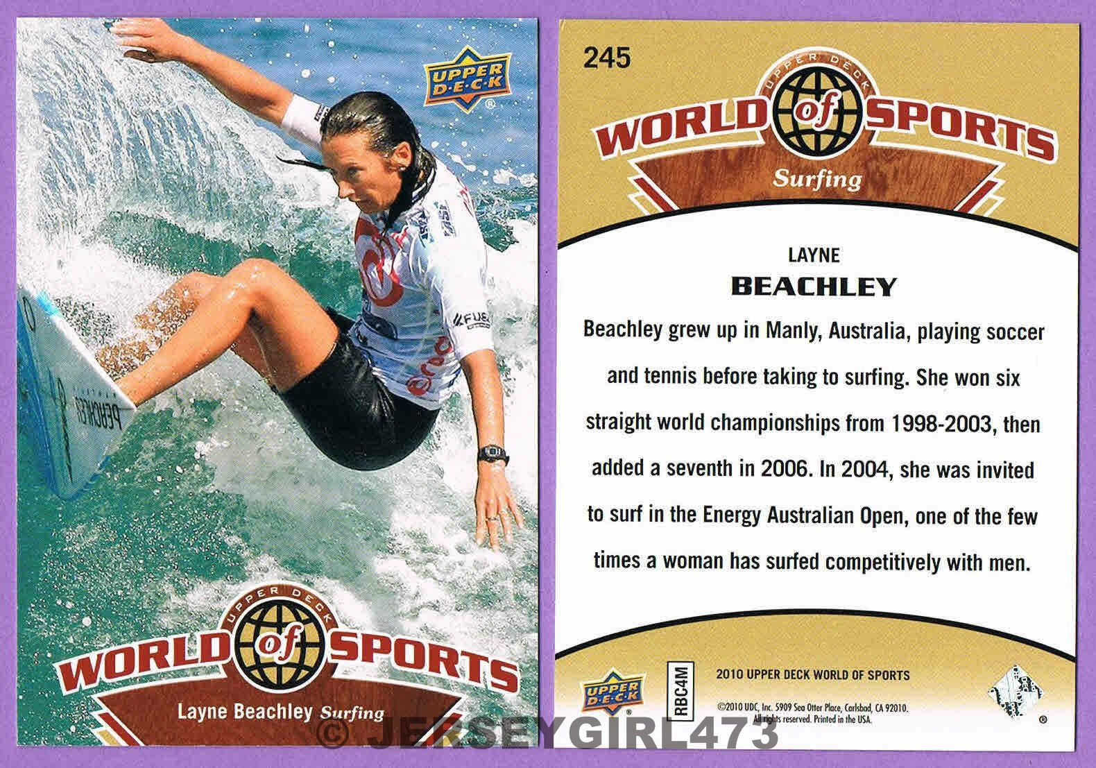Layne Beachley 2010 Upper Deck World of Sports Surfing Card #245