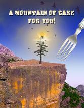 Mountain of Cake: Unique Birthday Card - $5.00