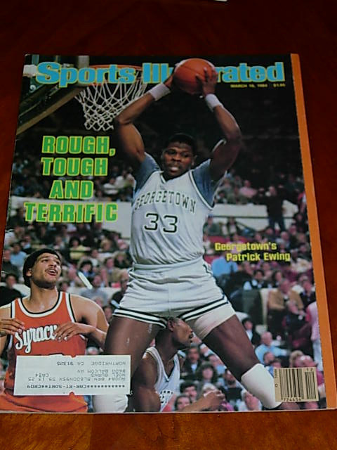 Primary image for 1984 Sports Illustrated Patrick Ewing, Patty Shehan, baseball scouts, Alpine ski