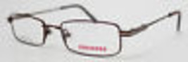 Converse Ophthalmic Eyeglass Modified Rectangle Metal Frame Dunk Burgundy - $35.99