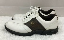 FootJoy With Flexzone 45457 White & Brown Golf Shoes Mens US Size 10.5M - $31.45
