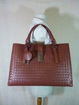 AUTH NWT Bottega Veneta Medium Roma Bag In Russet Intrecciato Calf Leath... - $3,445.20