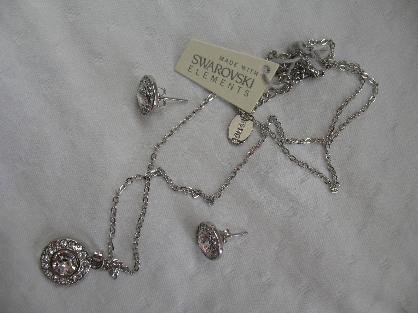 Mestige New Crystal Mandala Set Earrings Necklace Swarovski Elements Jewelry