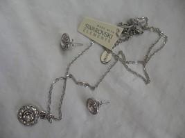 Mestige New Crystal Mandala Set Earrings Necklace Swarovski Elements Jewelry - $47.03