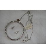 Mestige New Swarovski Elements Bracelet Earrings Necklace Crystal Silver... - $58.79