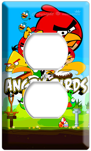 New Angry Birds Elecrical Outlet 2h Cover Wall Plate Kids