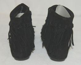 I Love Yo Kids AVA 92T Girls Fringe Boot Black Zip Up Size 10 image 4
