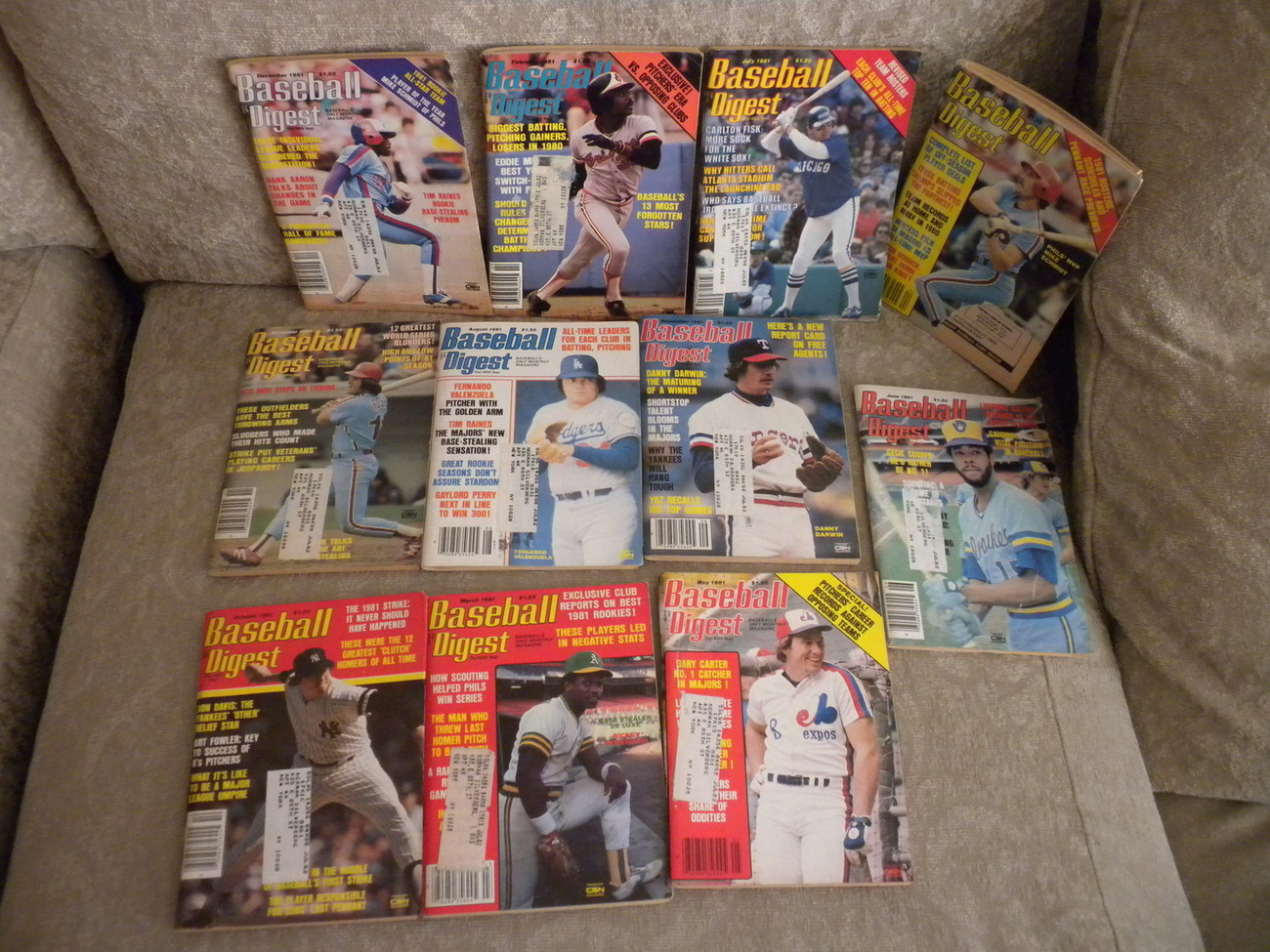 Primary image for 1981 Lot of 11 issues of Baseball Digest Feb-Dec: Henderson; Raines, Valenzuela