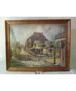 New Orleans' Artist J. Hoxsey Framed Oil Painting of The French Quarter - $925.00