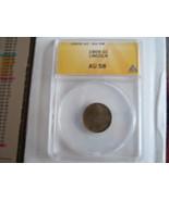 1909, Lincoln Cent , ANACS , AU 58 - $20.00