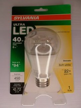 Sylvania Ultra LED Light Bulb - 40w Using 6w - Dimmable - 450 Lumens - A19 - $9.41