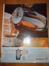 Vintage Westinghouse Coffee Maker Print Magazine Advertisement 1961 - $5.99