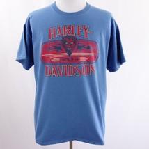 Harley Davidson San Antonio TX Blue Graphic T Shirt Mens Sz XL - $26.03