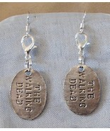 Walking Dead Theme WD Tag Handcrafted Convertible Earrings Zipper Clippers  - $9.99